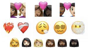 nouveaux emojis apple ios 14-2 novembre 2020